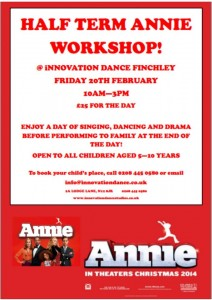 Annie Half Term Workshop